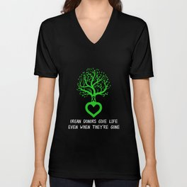 Organ Donor Donate Life Transplant Awareness Unisex V-Neck