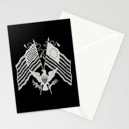 U.S. Flags & Eagle Stationery Cards