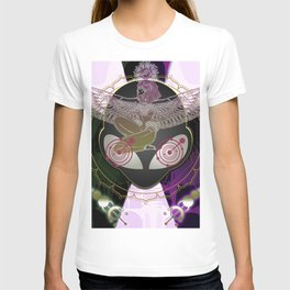 Diamond Fire Alien and the Isis Crop Circles T-shirt