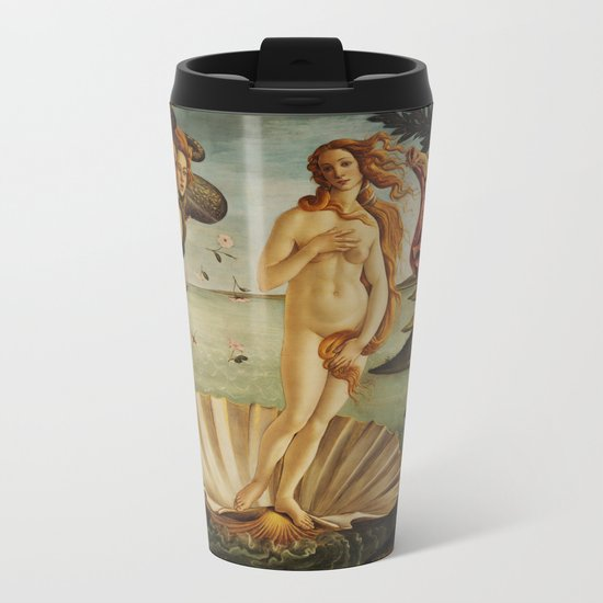 The Birth of Venus by Sandro Botticelli Metal Travel Mug