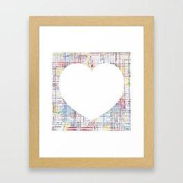 The System - large heart Framed Art Print