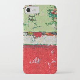 Dixon Red Green Abstract Painting Print iPhone Case