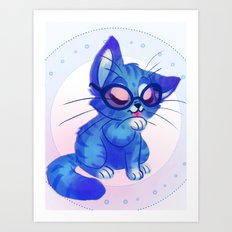 Kitty Glasses Art Print