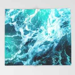 Out there in the Ocean Throw Blanket