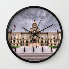 Wyoming Capitol Building Wall Clock