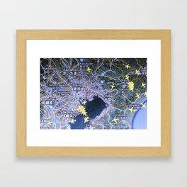 Tokyo on the radar map Framed Art Print