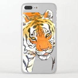 Kali Tigress Calligraphy Clear iPhone Case