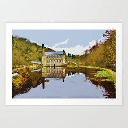 Gibson Mill - Hardcastle Crags Art Print