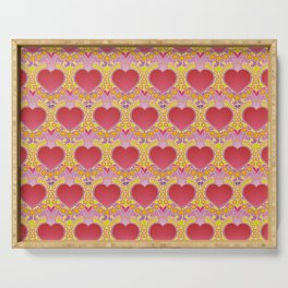 Peace and love pattern Serving Tray