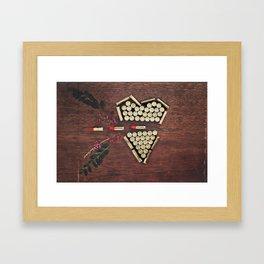 Bullet through the heart Framed Art Print