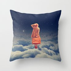 Galactic Traveller Throw Pillow
