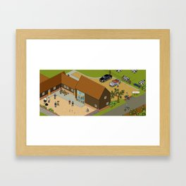 Headscape Barn Framed Art Print
