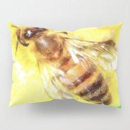 The Pollen Collector Honeybee Watercolor Pillow Sham