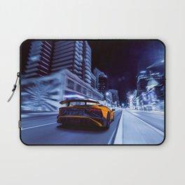 Supercar City night speed Laptop Sleeve