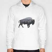 bison Hoodies featuring The American Bison by Davies Babies