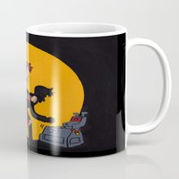 tintin Mugs featuring Les Aventures du Docteur by Meghan M Hawkes