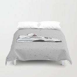 Jordan 4 White Cement Duvet Cover