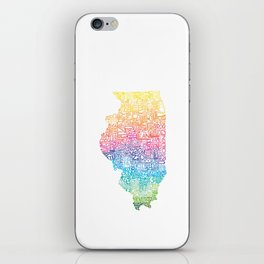 Typographic Illinois - Spring iPhone Skin