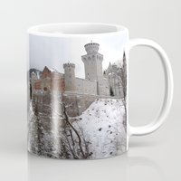 castle in the sky Mugs featuring Castle in the Sky by LonelyHeartsClub