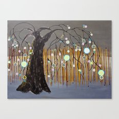 :: Willow Sunset ::  by Gale Storm Canvas Print