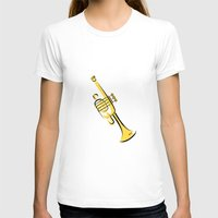 trumpet T-shirts featuring Trumpet by shopaholic chick