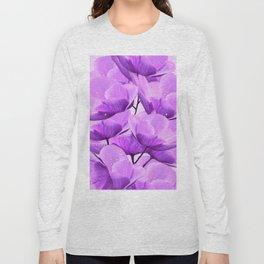 Violet Anemones Spring Atmosphere #decor #society6 #buyart Long Sleeve T-shirt