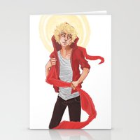 enjolras Stationery Cards featuring Enjolras by icarusdrunk
