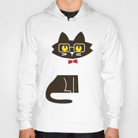preppy Hoodies featuring Fitz - Preppy cat by Picomodi