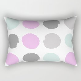 Modern pastel dots polka dots pattern basic decor for home office trendy space Rectangular Pillow