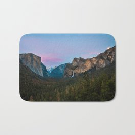 Yosemite Valley Sunset Bath Mat