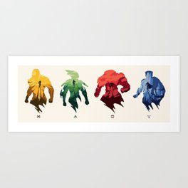 The Javelins Art Print
