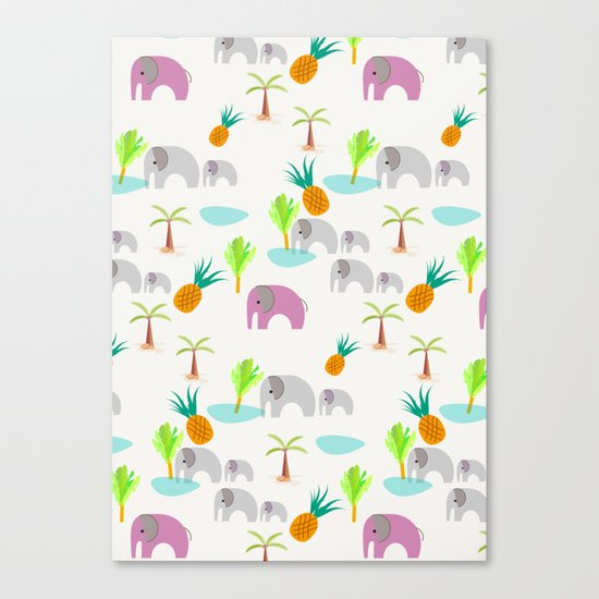 Pink Elephants Canvas Print