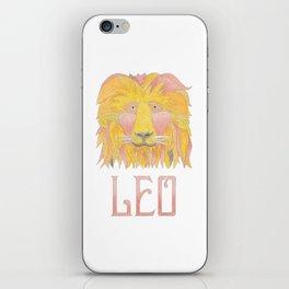 Leo - fire sign iPhone Skin