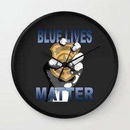 Blue Lives Matter Wall Clock