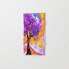 Spring in Fluid acrylic pour art Hand & Bath Towel