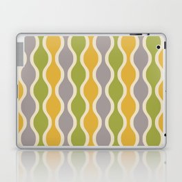 Classic Retro Ogee Pattern 847 Yellow Gray and Green Laptop & iPad Skin