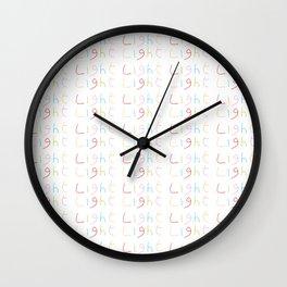 Light 1-Light-day,sun,positive,good,sol,dia,glow,brillar,sunlight,gleam Wall Clock
