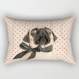 Trés Chic Pug Rectangular Pillow