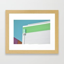 Colorful modern architecture Framed Art Print