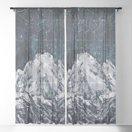 Constellations over the Mountain Sheer Curtain
