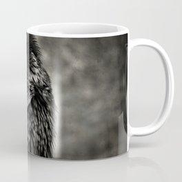 Raven blackbird scratching itself Coffee Mug