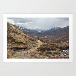 Bikepacking the Highlands  Art Print