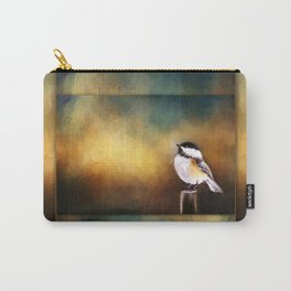 Chickadee in Morning Prayer Carry-All Pouch