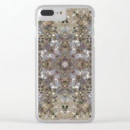 Gold and Champagne Glitter - Digital Photo Kaleidoscope Macro Clear iPhone Case