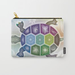 Fine Tattooed Turtle Carry-All Pouch