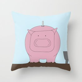 Moneybox Throw Pillow