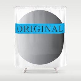 Pluto's Original (Blue) Shower Curtain