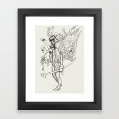 Sword and Swan Framed Art Print