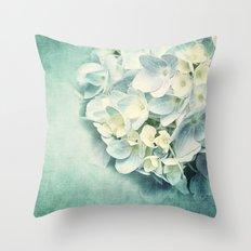 MINT HYDRANGEA Throw Pillow