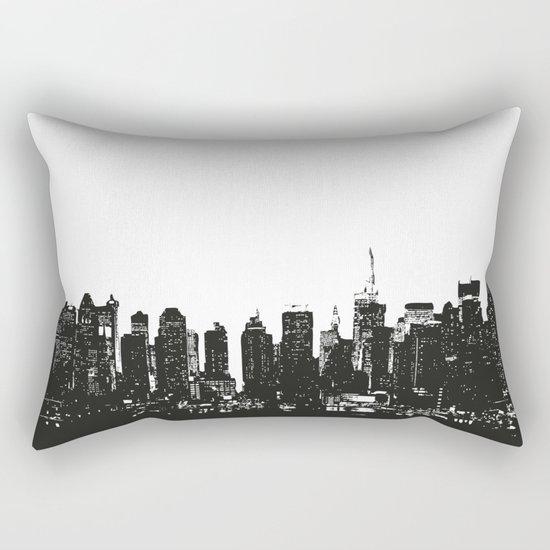 New York black and white high quality art print Rectangular Pillow